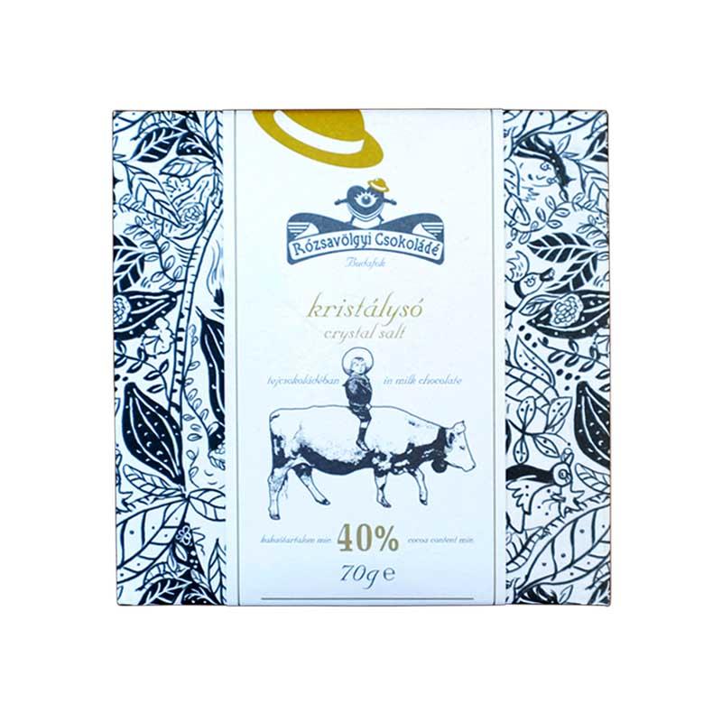 Rózsavölgyi Sós 40%-os tejcsokoládé 70g