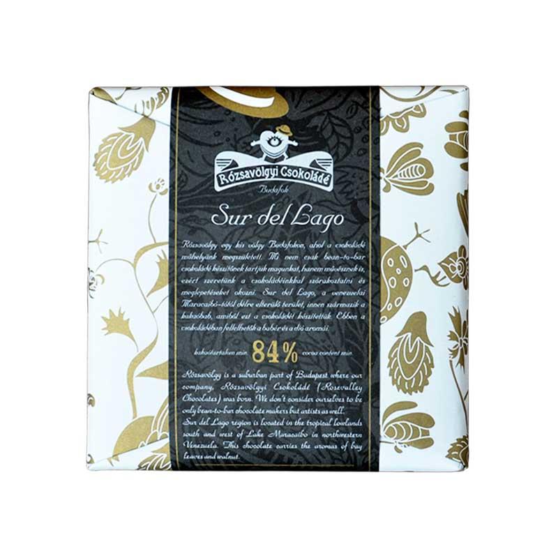 Rózsavölgyi Sur del Lago 84%-os étcsokoládé 70g