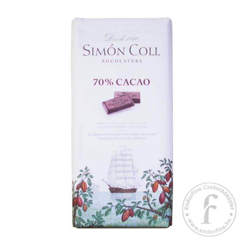 Simón Coll 70%-os étcsokoládé 85g