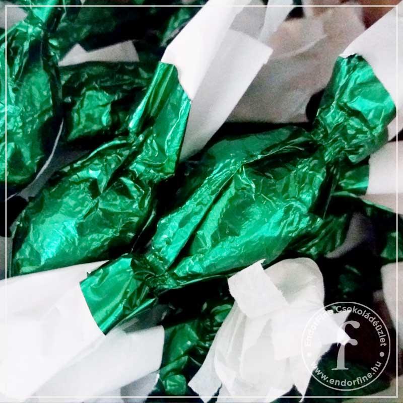 Karácsonyi fűszerezésű mandulamarcipán szaloncukor 60%-os étcsokoládéban 250g
