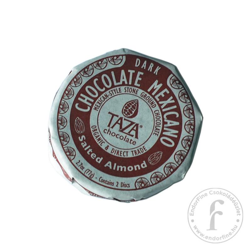 Taza Sós mandulás 40%-os étcsokoládé 77g