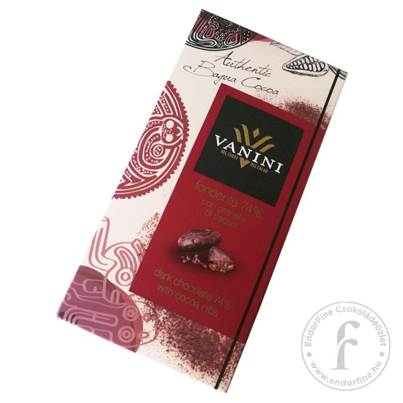 Vanini Kakaóbabtöretes 74%-os étcsokoládé 100g